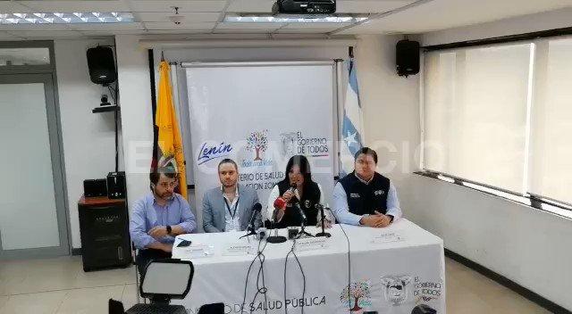 Ecuador Health Minister Catalina Andramuño, reports first case of coronavirus