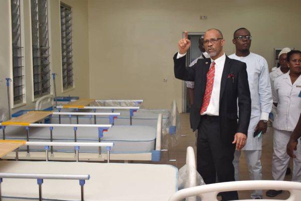 Isolation ward for coronavirus in Lagos