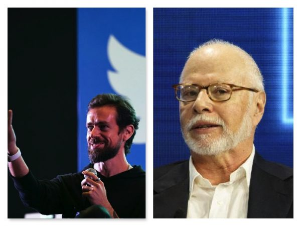 Jack Dorsey and Paul Singer who wants to oust him from Twitter