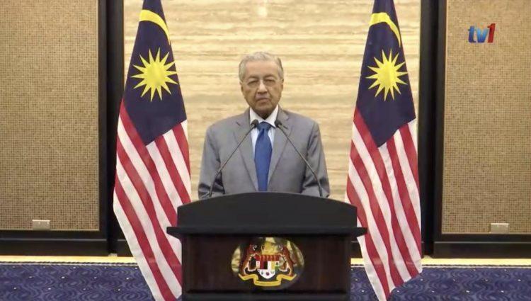 Malaysia's Interim Prime Minister Mahathir Mohamad
