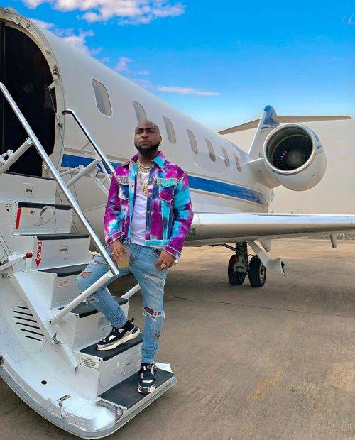 Davido with his Daddy's old jet