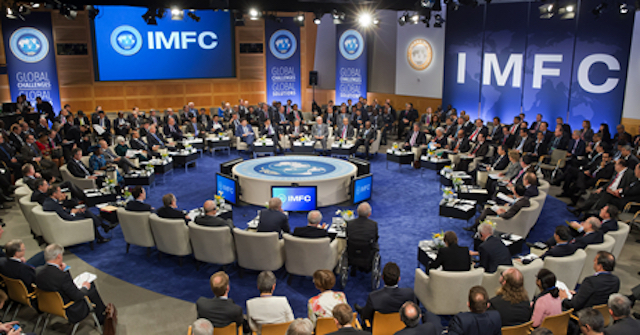 File: a past spring meeting of IMF:World Bank in session