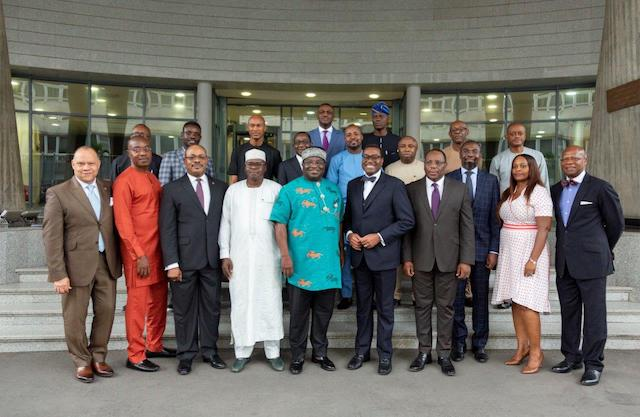 Governor Okezie Ikpeazu and AfDB President Akinwumi Adesia, middle in Abidjan