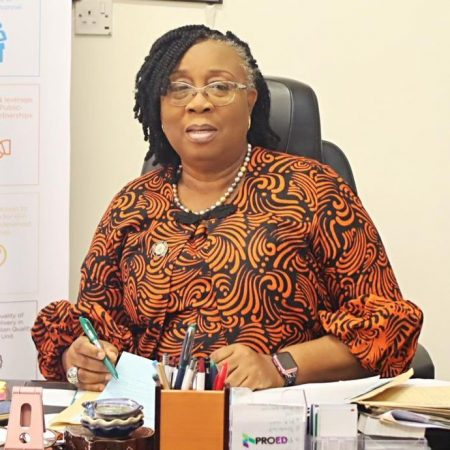 Folasade Adefisayo. Lagos Commissioner for Education: confirms the government's collaboration with MTN to provide internet facilities in all schools.