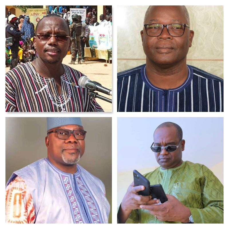 Top-Stanislas Ouaro, Simeon Sawadogo, Below, Oumarou Idani and Alpha Barry