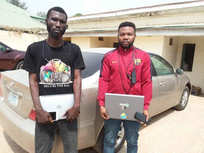 Obi Sobenna Jude(R) and Robert Sunday Olaoluwa
