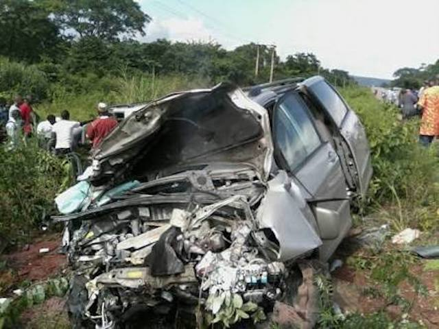 An accident on our roads. Just for illustration