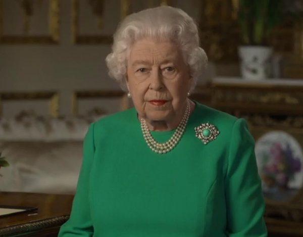 Queen Elizabeth during Sunday's broadcast