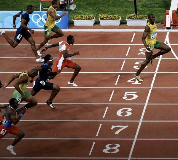 Social distancing Usain Bolt's way