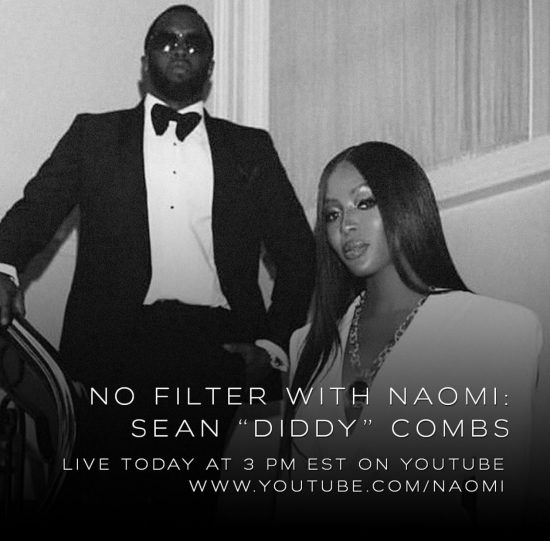 Naomi Campbell promo for You Tube chat with P.Diddy