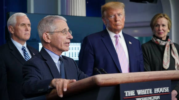DR.Fauci, VP Pence and President Trump