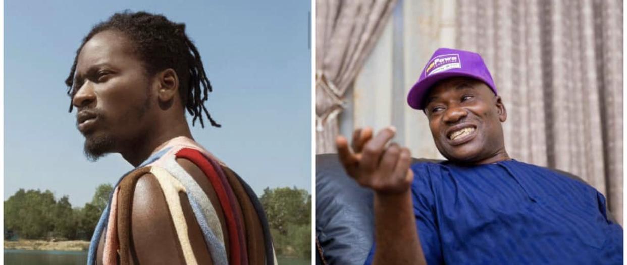 Mr Eazi and father, Captain Ajibade