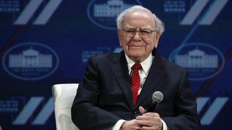 Warren Buffett on Saturday, speaks from Omaha
