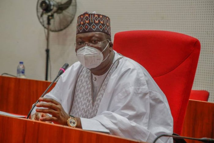 Senate President Ahmad Lawan at the meeting with representatives of the DISCOs