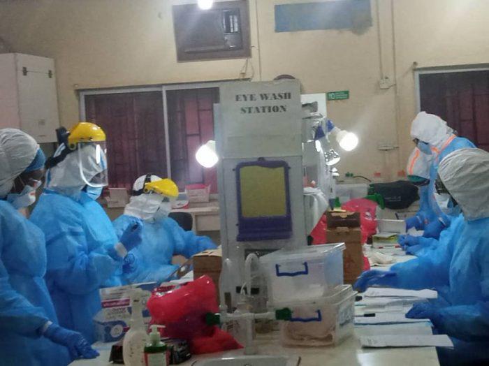 Testing for Coronavirus at Yaba Laboratory