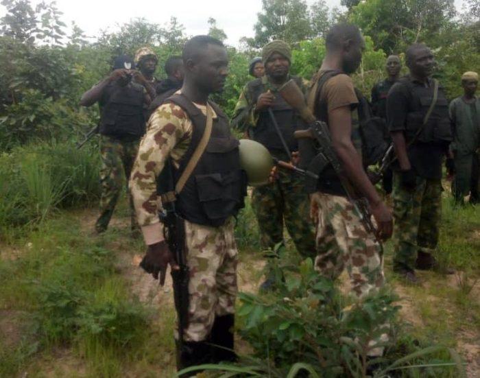 Nigerian soldiers Nigerian troops