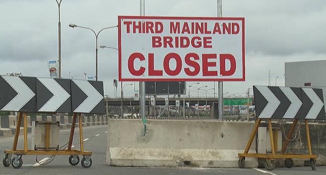Third mainland bridge closed