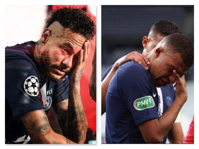 Neymar and Mbappe in tears