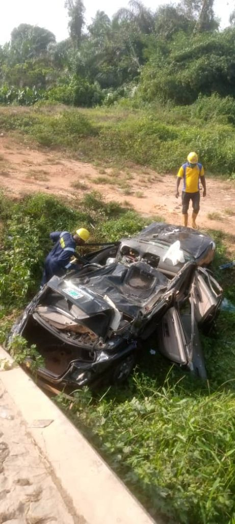 Toyota Camry that killed four people on Lekki-Epe Road