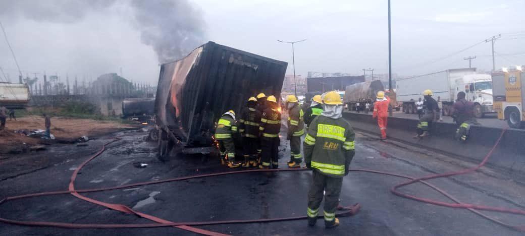 Otedola Bridge Fire Incident