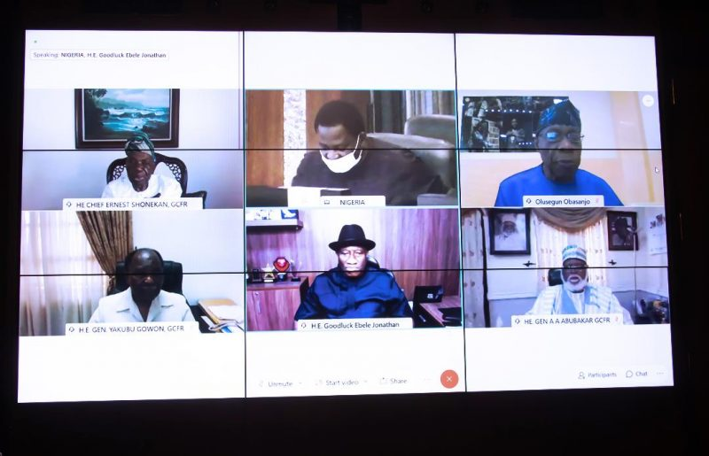 Shonekan, Gowon, Jonathan, Obasanjo and Abdulsalami