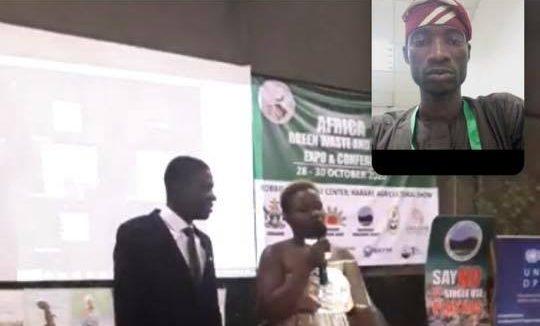 Adeyemo Yusuf Adeniyi of YFAI being announced the winner