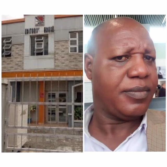 R-L: Mr Mustapha Isah, President, Nigerian Guild of Editors and its secretariat (Editors' House) in Ikeja, Lagos