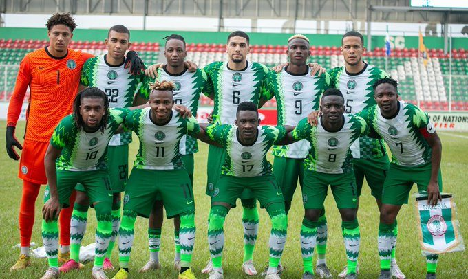 Super Eagles with Osimhen No 9 missing in Freetown