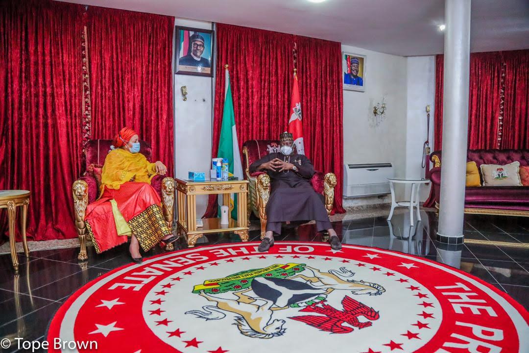 UN Deputy Secretary General visits Senate President