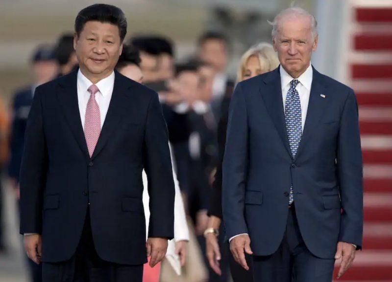 Xi Jinping and Biden in a 2015 photo