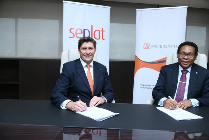 Roger Brown CEO of Seplat and Chikezie Nwosu of Walterman sign the crude purchase agreement