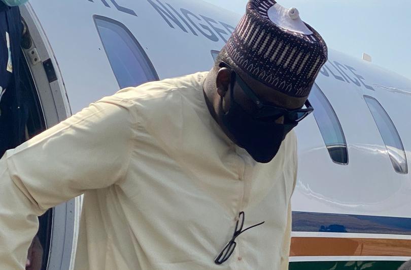 Maina landing in Abuja