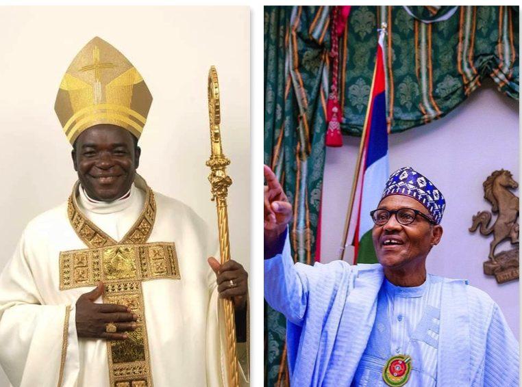 Most Rev. Matthew Hassan Kukah and President Buhari