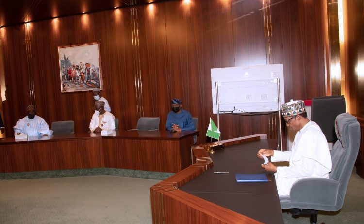 PRESIDENT BUHARI RECEIVES SPEAKER AND TWO OTHERS 5B