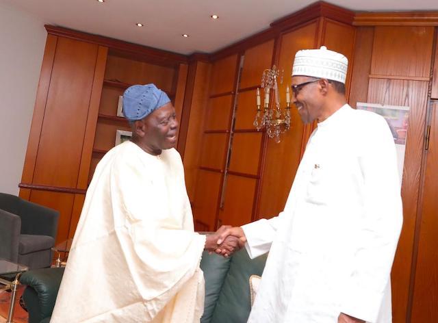 Buhari and Chief Bisi Akande