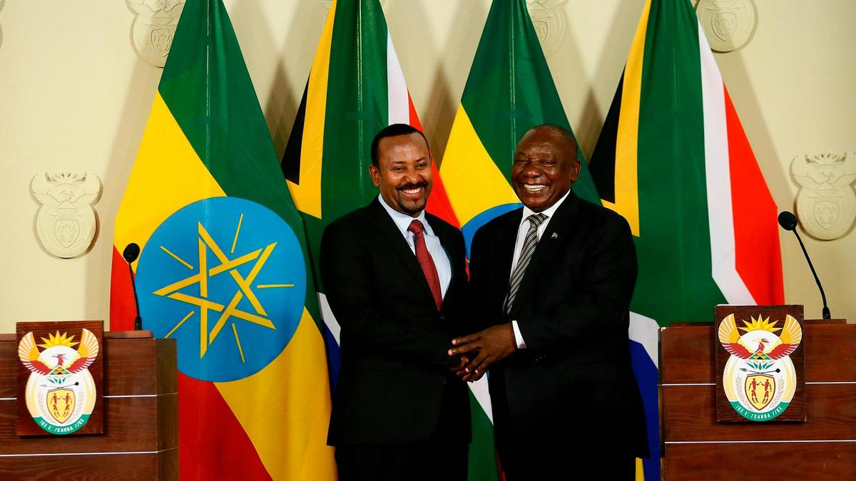 Cyril Ramaphosa and Ethiopian Prime Minister Abiy Ahmed