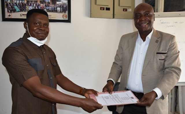 Handover from Ag Commandant to the new Commandant  EFCC Academy