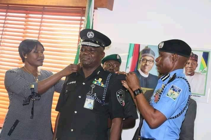 Yohanna Yunana Babas being decorated recently with his AIG rank by IGP Adamu