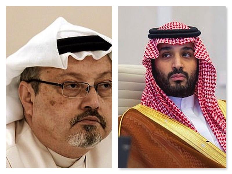 Jamal Khashoggi and Crown Prince Salman who ordered his brutal murder