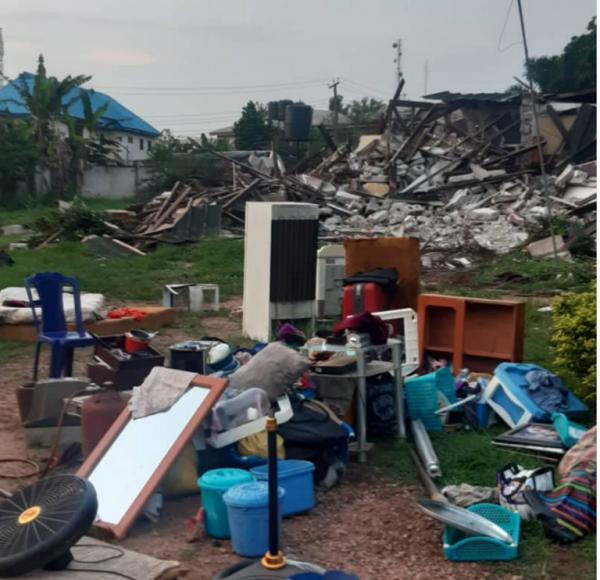 Obaseki bulldozes Odubu's home in Benin