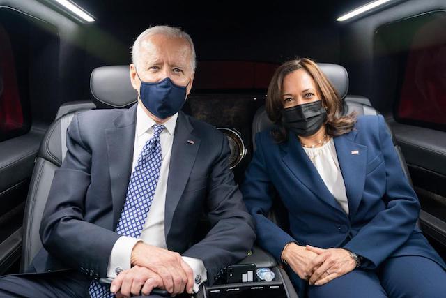Biden and Kamala Harris