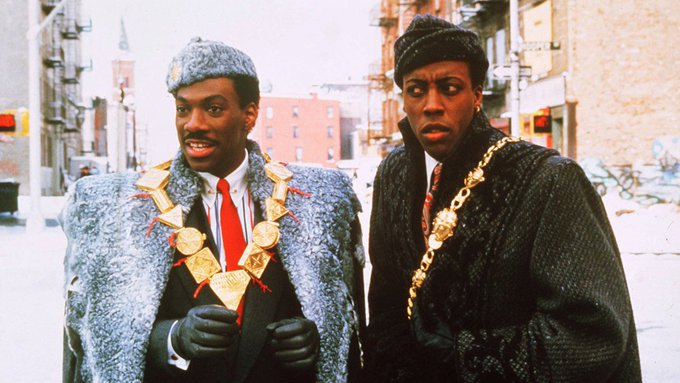 Eddie Murphy and Arsenio Hall in the first movie