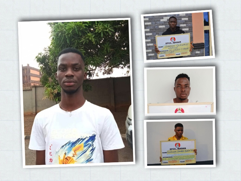 Matthew Anuoluwapo, right, bottom-up, Olatayo, Ibrahim, Ayomide