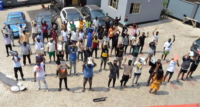 the 57 cyber fraud suspects arrested by EFCC in Ilaro