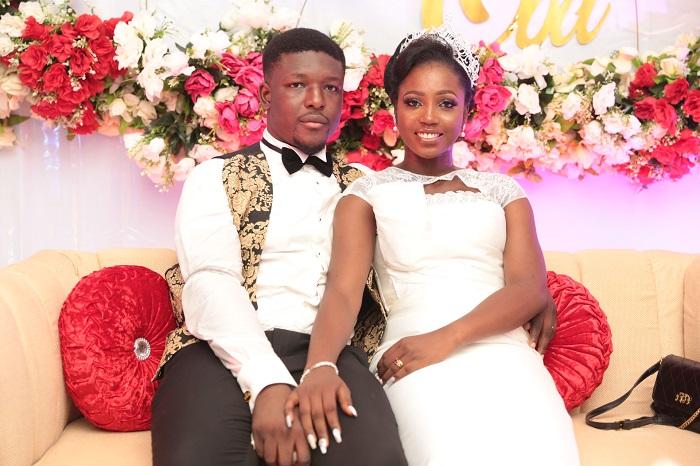 Obabioluwakosi Malaolu and his bride, Feyisetan Sogbesan