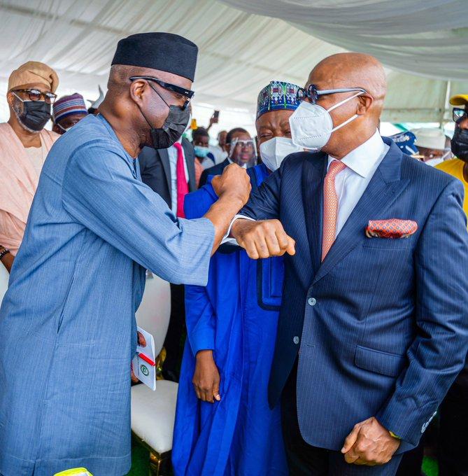 Abiodun with Minister for Trade Niyi Adebayo