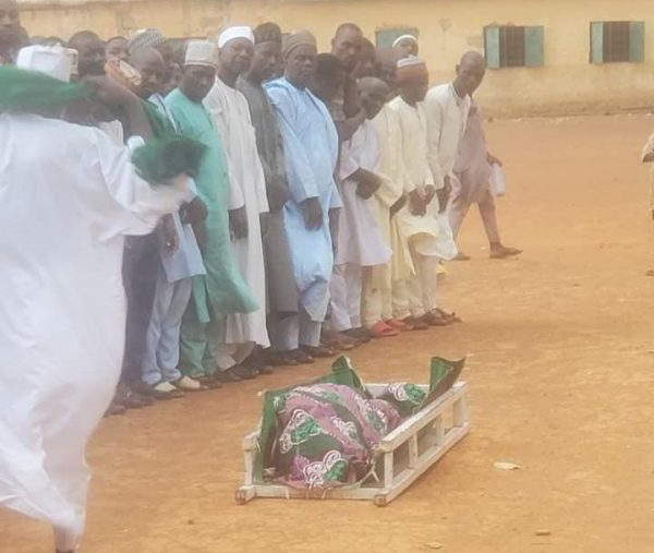 Burial prayer for Sadiq Yusuf Sanga on Friday