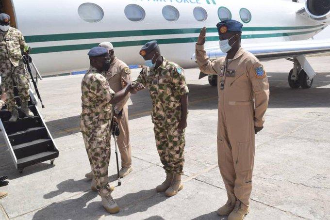 Chief of Air Staff Amao in Maiduguri on Thursday
