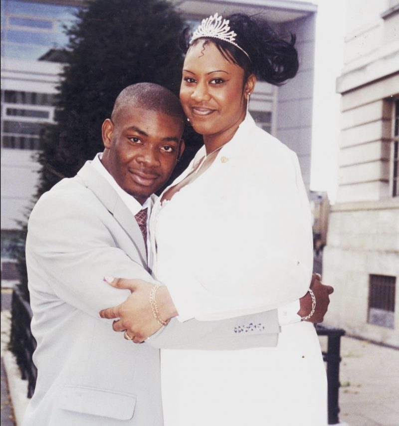 Don Jazzy and Michelle Jackson some 18 years ago