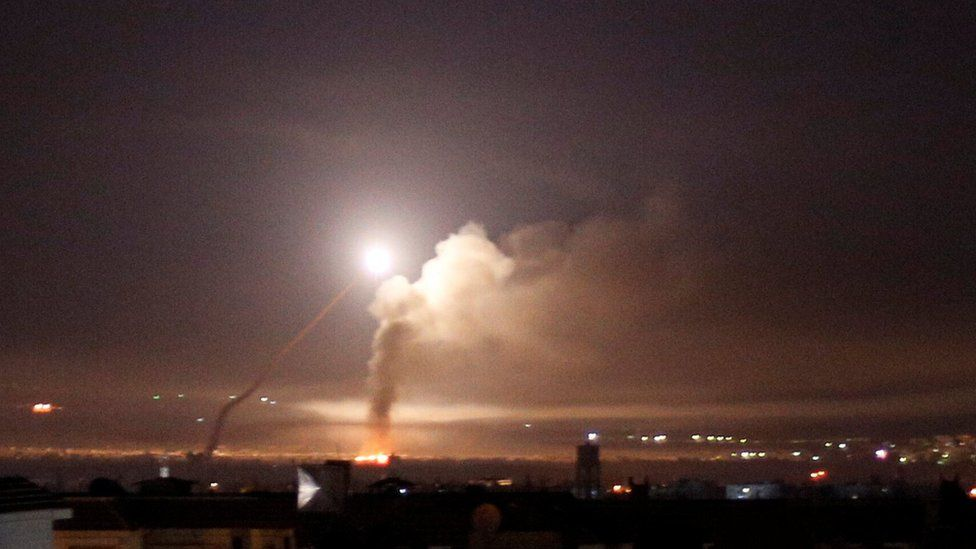 Israel fires missiles into Syria